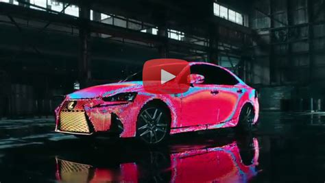 lexus lit lexus unveils led covered lit is with premiere of dua lipa