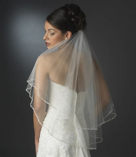 beaded veil dazzling beaded edge bridal veil bridal