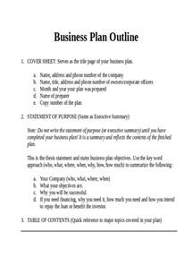 template for a business 34 outline exles sles in word