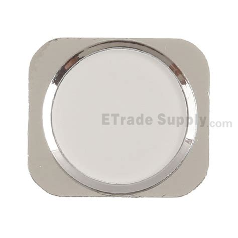 apple iphone 5 home button silver etrade supply