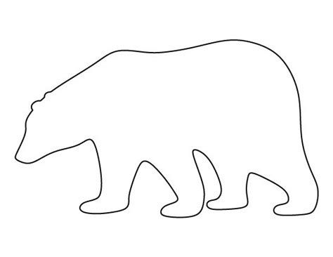 bear pattern worksheet image result for polar bear stencil polar bears