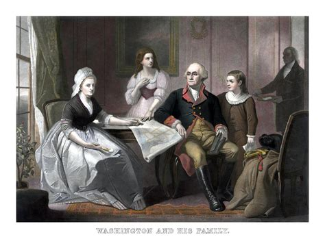 Cabinet Of George Washington by Washington And His Family Painting By War Is Hell Store