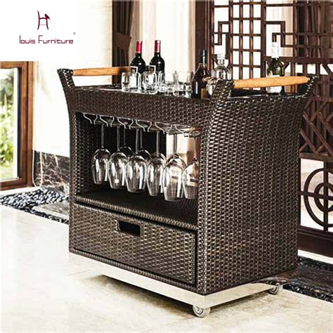 rattan kitchen furniture hotel rattan tea car fashionable outdoor rattan furniture