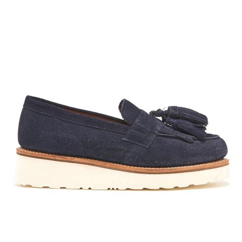 womens navy suede loafers grenson s clara suede tassle loafers navy free