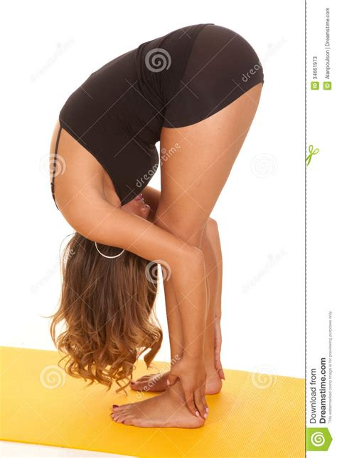 free bend over bending over bendover bends over bent bend over stretch yoga stock image image of beauty