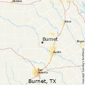 map of burnet best places to live in burnet