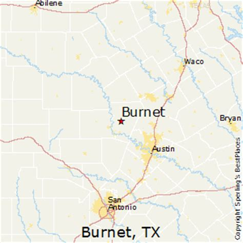 map of burnet texas best places to live in burnet texas