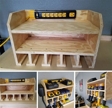 tool bench hardware storage power tool charging station pinteres