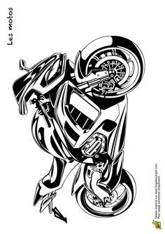 rugged motorcycle coloring book pages  images