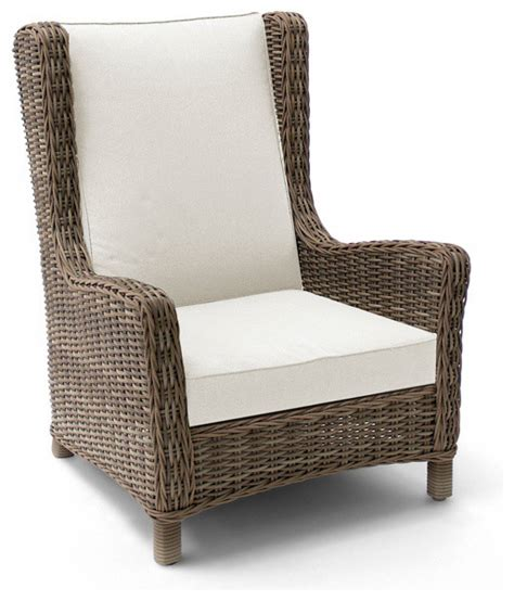 Outdoor Club Chair by Wicker Wing Chair Outdoor Lounge Chairs