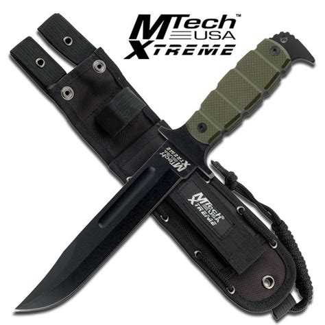 combat knives uk mtech xtreme cb sheath knife green