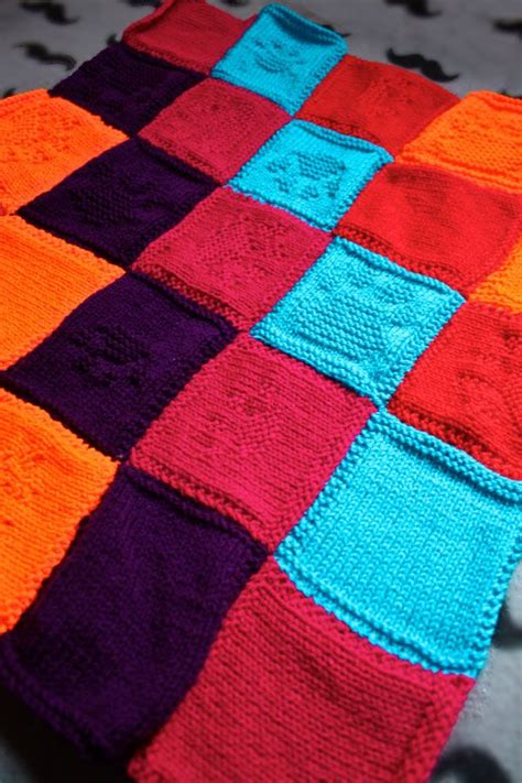 Free Knitted Patchwork Blanket Patterns - 17 best images about knitting ideas on