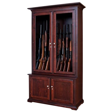 buffalo run 12 gun cabinet amish gun cabinet country