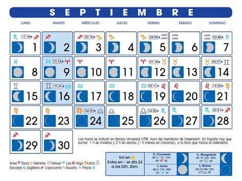 luna psra setiembre 2016 calendario lunar 2014