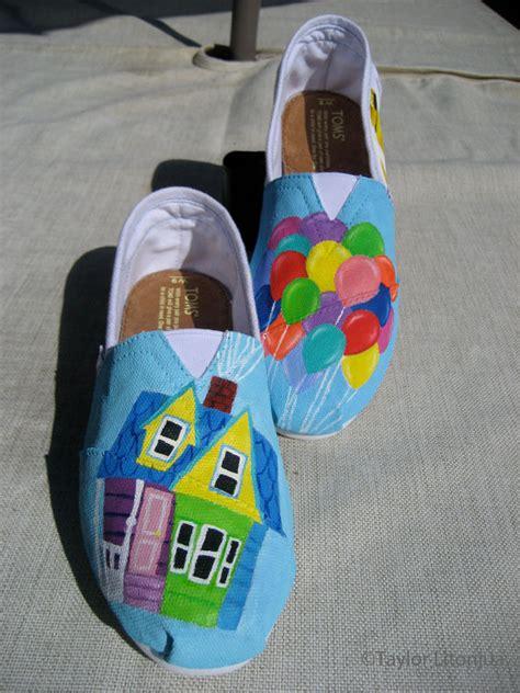 disney shoes disney pixar s up custom fan painted tom s shoes