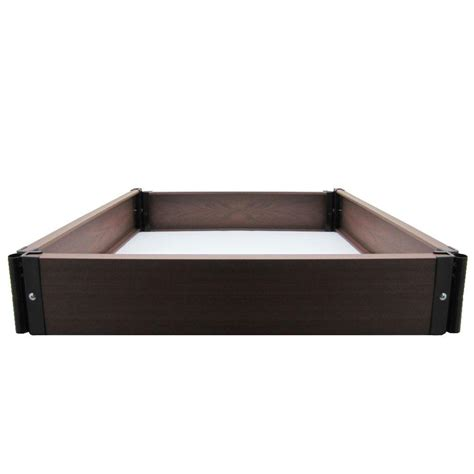 composite raised garden bed viagrow build your own 24 in x 24 in composite raised garden bed kit v31105 the