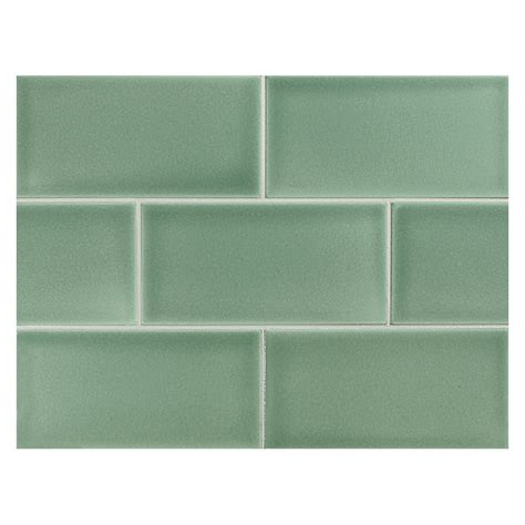 Subway Tile Backsplash For Kitchen vermeere ceramic tile sage green gloss 3 quot x 6 quot subway tile