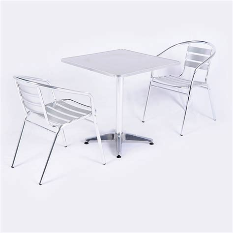 Kensington Bistro Chair Greenfingers Kensington Aluminium 2 Armchairs 70cm Square Bistro Set