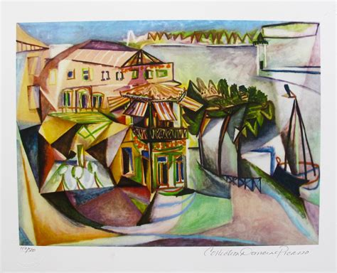 Pablo Picasso Cafe At Royan Estate Signed Limited Edition