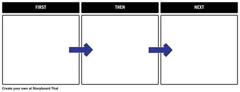 first then next template storyboard by natashalupiani