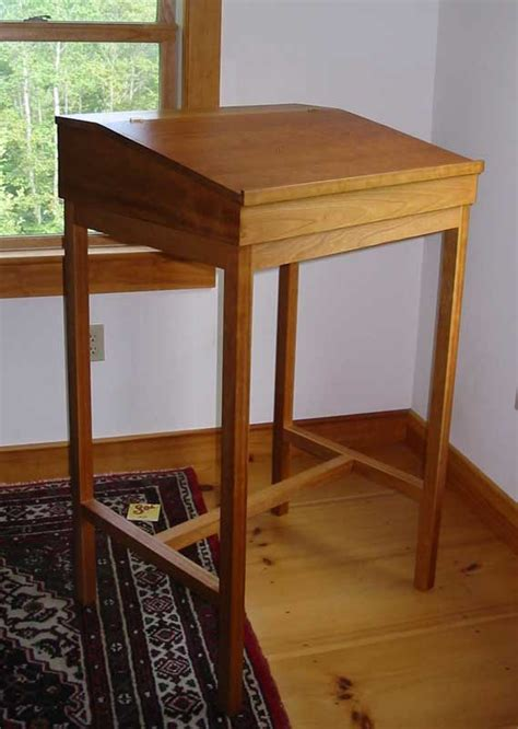 standing writing desk cherry stand up writing desk hardwood shaker desk made