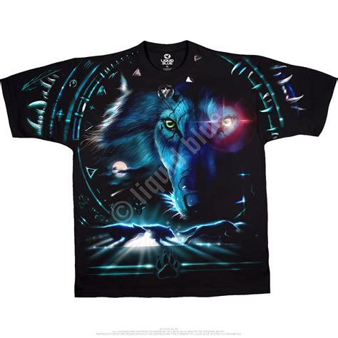 Wolf T Shirt Meme - american wildlife tribal wolf black t shirt tee liquid blue