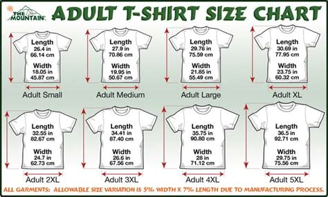 Who Is He Big Size Tshirt the mountain t shirt size guide information