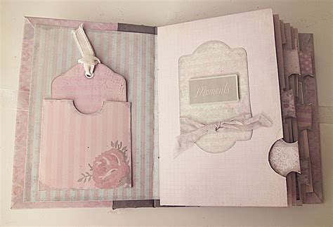 shabby chic printable scrapbook mini album youtube