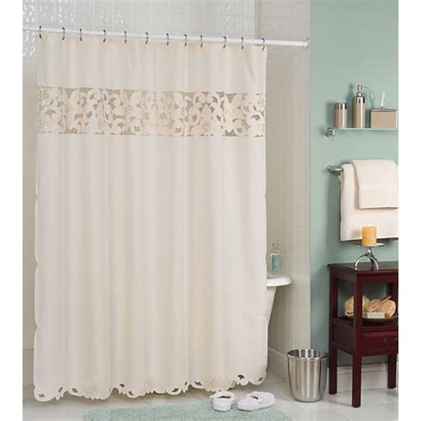 shower curtains kmart essential home shower curtain enchanted rose fabric