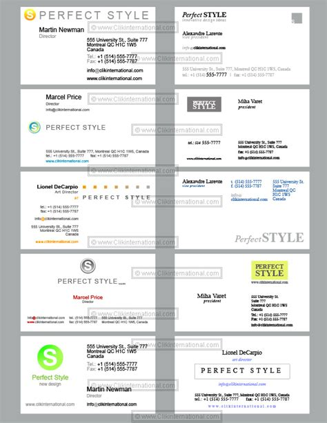 template business cards 10 business cards templates style design