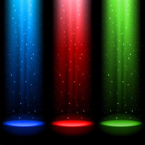 free stage background design vector rainbow stage spotlights vector background 05 vector