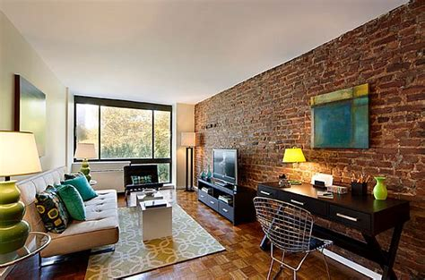 living room brick real exposed brick wall living room