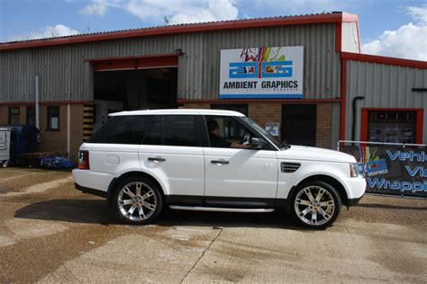 white wrapped range rover active rentals range rover sport white wrap 01 ambient
