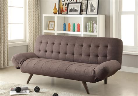 Sofa beds and futons retro modern sofa bed with tufting amp cone legs quality furniture at