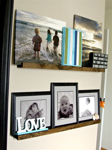 picture ledge diy picture ledge the updates gallery wall