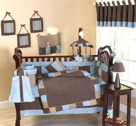 Brown And Blue Crib Bedding Baby Stores Soho Blue And Brown Infant Boy Nursery Baby Bedding 9 Pc Crib Set