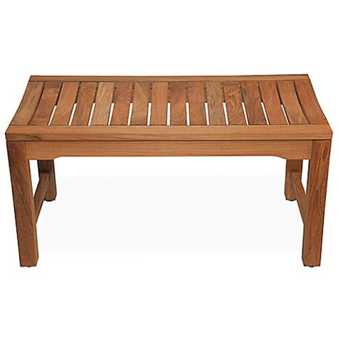 36 inch bench 36 inch backless rosemont teak shower bench bed bath