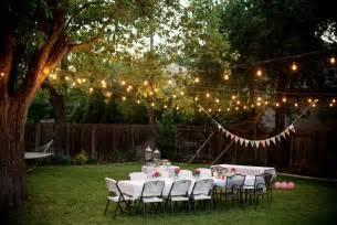 backyard lighting how to throw a backyard the massey team