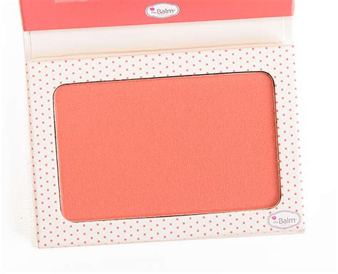 The Balm Instain Swiss Dot Blush thebalm swiss dot instain wearing powder blush review photos swatches