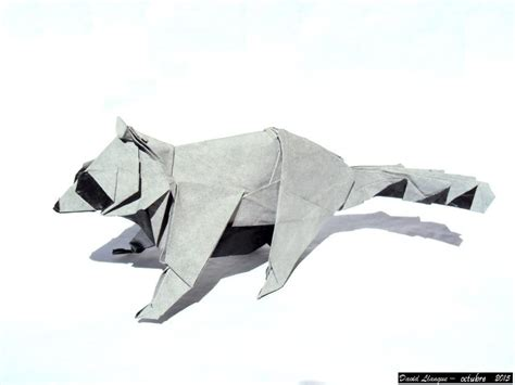 Origami Raccoon - this week in origami 3d tessellation edition