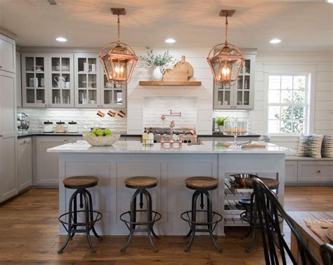 Center Island Kitchen Designs seven farmhouse kitchen designs hallstrom home