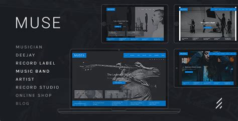 muse themes facebook preview muse music wordpress theme by forqy themeforest