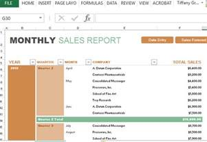 excel forecasting template monthly sales report and forecast template for excel