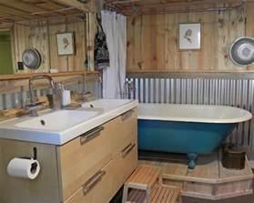 Bathroom Tin Walls Half Wall In Bath Of Corrugated Metal Corrugated Metal