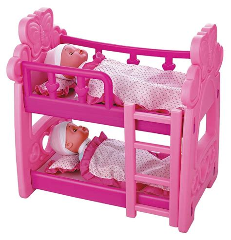 Baby Doll Bunk Bed Childrens Pretend Play Baby Dolls Doll House Bedroom Bunk Bed Crib Ebay