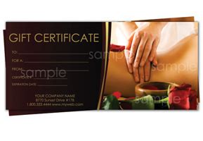 printable massage gift certificates easy to use