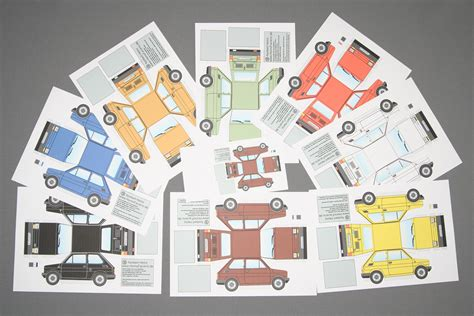 Auto Falten by Papiermodell Fiat 126 Homofaciens