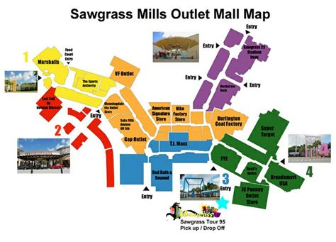sawgrass mills map sawgrass mills outlet mall map florida outlets and maps
