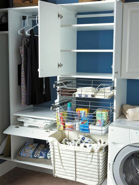 Wellborn Kitchen Cabinets 10 clever storage ideas for your tiny laundry room hgtv