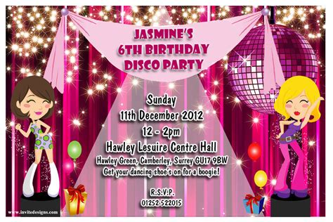 themes in girl online dance party invitations cloudinvitation com